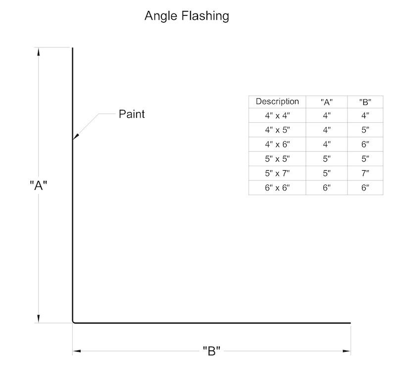 Angle Flashing Dot Metal Products