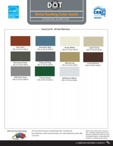 DOT MR COLOR CHART 10115-1